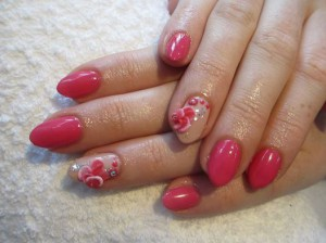 Shellac nails with acrylich art designs at ND Beauty skin clinic