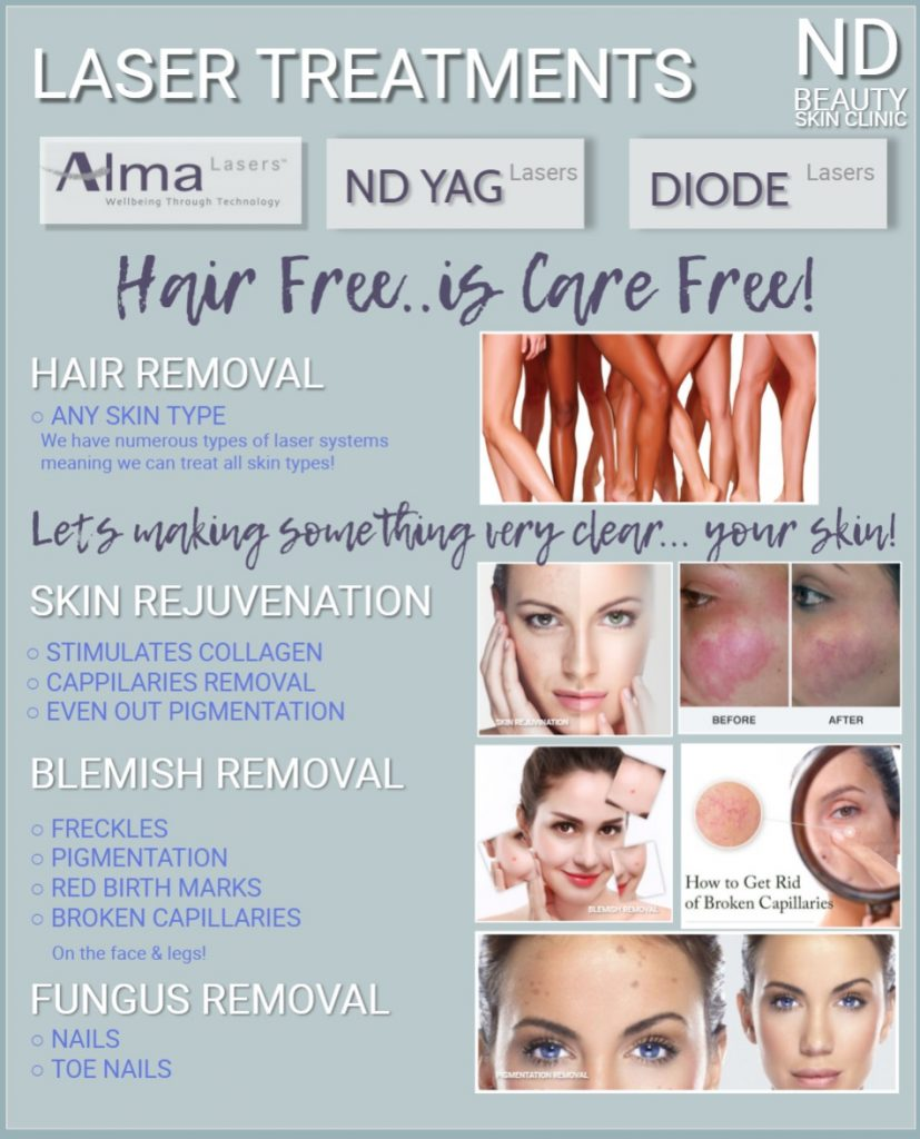 diode laser hair removal on any types of skin , it painless and comfirtable and quick procedure